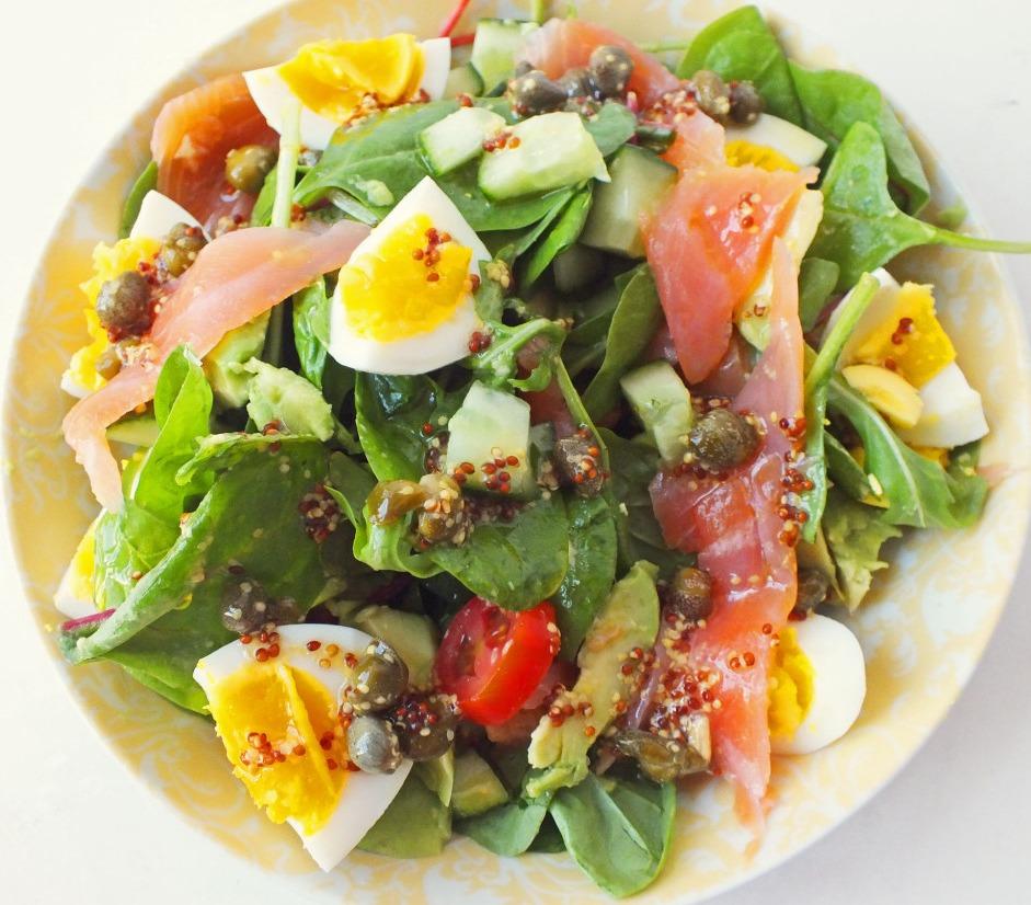 salat s lososem