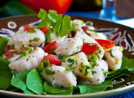 Севиче из морского гребешка рецепт