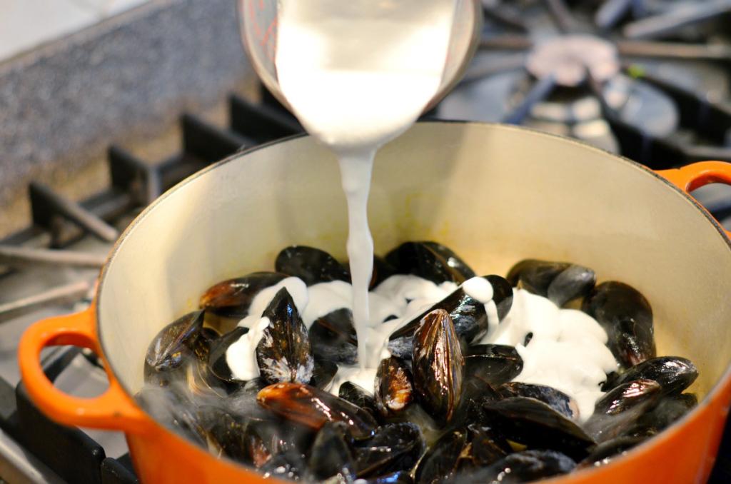 мидии в сливочном соусе в раковинах рецепт