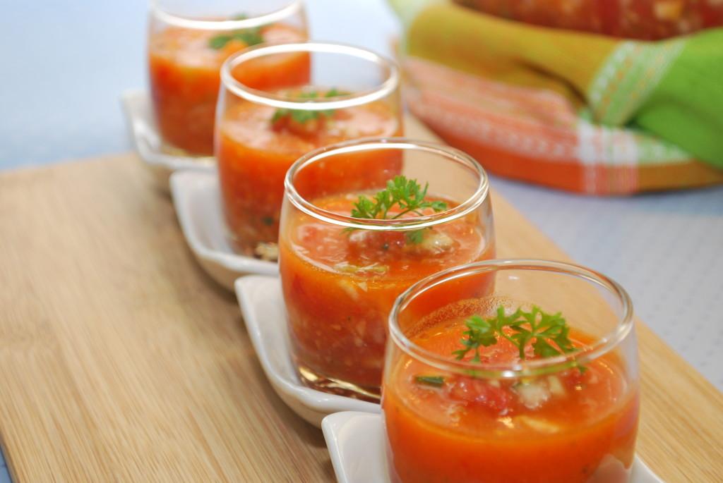 Классический томатный суп гаспачо